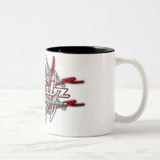 Pinstriping Logo 2 Two-Tone Coffee Mug