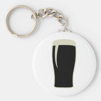 Pint o' Stout Basic Round Button Keychain