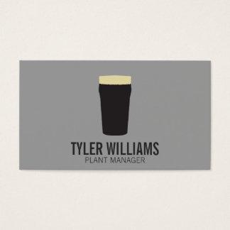 Pint of Beer | (dark) Business Card