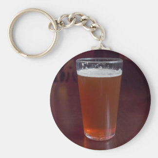 Pint of beer key chain
