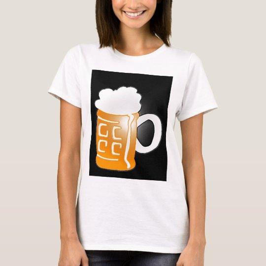 Pint of Beer Mug Design, Black Background T-Shirt