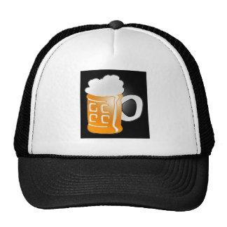 Pint of Beer Mug Design, Black Background Trucker Hat