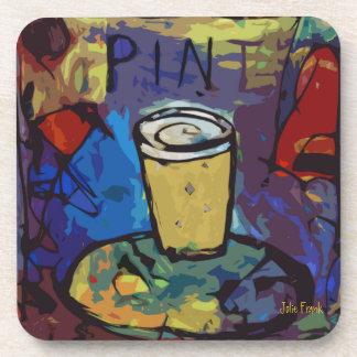 PINT  of Beer or BREWSKI Beverage Coaster