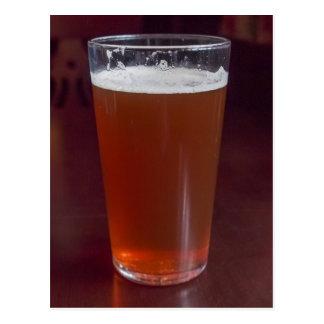 Pint of beer postcard
