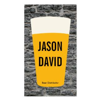 Pint of Beer | Rustic (variation) Business Card