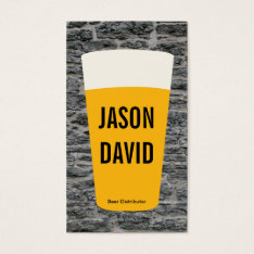 Pint Of Beer | Rustic (variation) Business Card at Zazzle