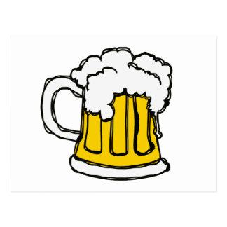 Pint of Beer Scribbled Cartoon Style Postcard