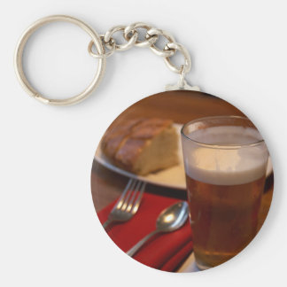 Pint Of Beer With Some Bread Keychains