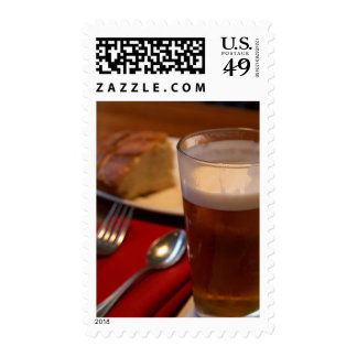 Pint Of Beer With Some Bread Stamps