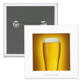 Pint of beer with spritz pinback button