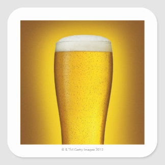 Pint of beer with spritz square sticker