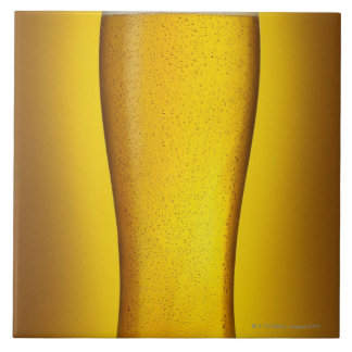 Pint of beer with spritz large square tile