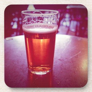 Pint of British ale beer in a pub Drink Coaster