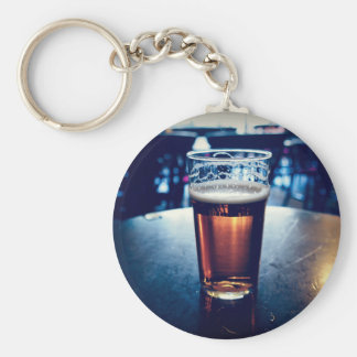 Pint of British ale beer Keychain