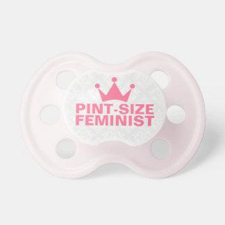 Pint-Size Feminist Text Design Pacifier