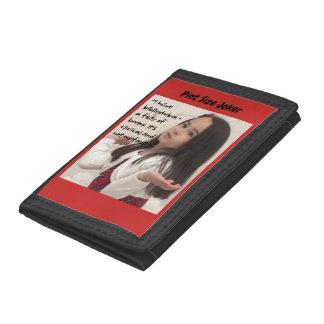 Pint Size Joker: Bibliophobia Fear Trifold Wallet