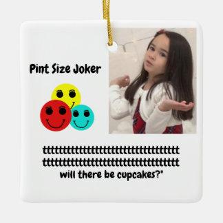 Pint Size Joker: Birthday Party Cupcakes Ceramic Ornament