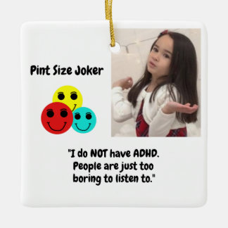 Pint Size Joker: Boring ADHD Ceramic Ornament