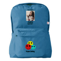Pint Size Joker: Buttons And Foxes American Apparel™ Backpack