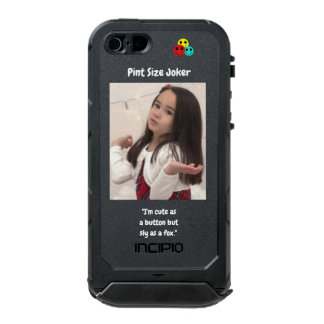 Pint Size Joker: Buttons And Foxes Waterproof Case For iPhone SE/5/5s