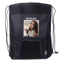 Pint Size Joker: Cute Button Fox Drawstring Backpack