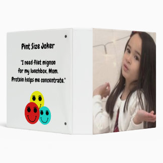 Pint Size Joker: Filet Mignon Lunchbox 3 Ring Binder