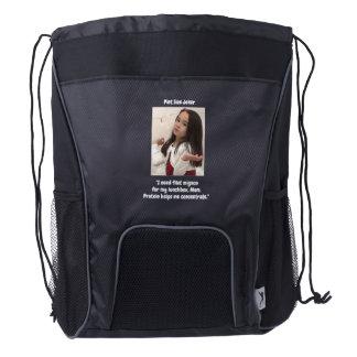 Pint Size Joker: Filet Mignon Lunchbox Drawstring Backpack