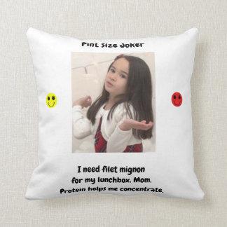 Pint Size Joker: Filet Mignon Lunchbox Throw Pillow