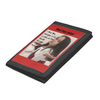 Pint Size Joker: Screen Twins (Big And Small) Trifold Wallet