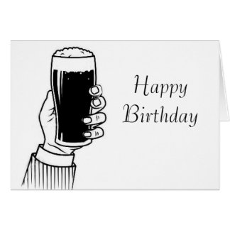 Pint Stout image for birthday-greeting-card Card