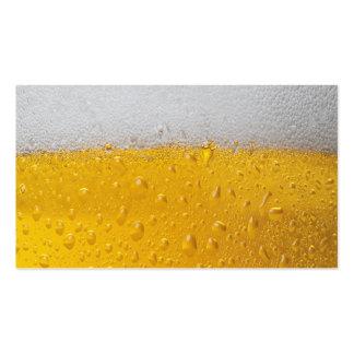 Pinta de la cerveza tarjetas de visita