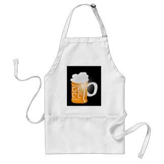 Pinta del diseño de la taza de cerveza, fondo negr delantal