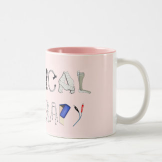 Pinta en el trabajo taza de café de dos colores