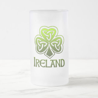 Pinta irlandesa taza de cristal