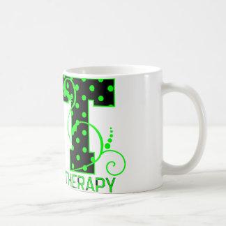 pinta lunares negros y verdes de 2 taza básica blanca