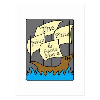 Pinta, Nina, Santa Maria Post Cards