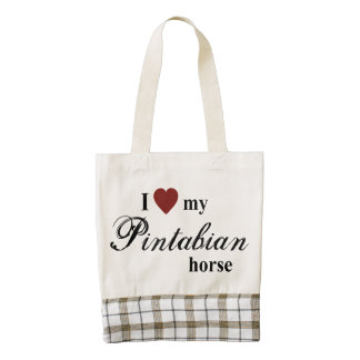 Pintabian horse zazzle HEART tote bag