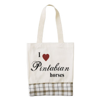 Pintabian horses zazzle HEART tote bag