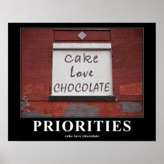 Pintada 16x20 de motivación del chocolate del amor póster