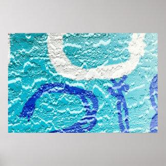 pintada abstracta blanca azul de la imagen de la póster
