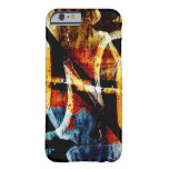 Pintada abstracta colorida funda de iPhone 6 barely there