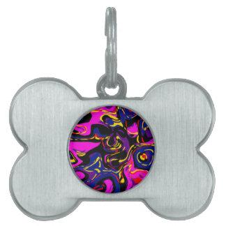 Pintada abstracta placas de mascota