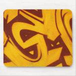 Pintada anaranjada tapetes de ratón