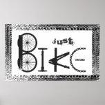 """Pintada """"apenas de la bici"""" de piezas de la bici y impresiones"""
