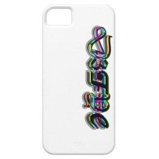 pintada, arco iris, fuente fresca, autoridad del funda para iPhone SE/5/5s