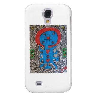 Pintada azul del extranjero X Funda Para Galaxy S4