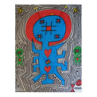 Pintada azul del extranjero X Tarjetas Postales