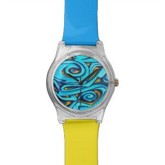 Pintada azul relojes