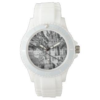 Pintada blanco y negro en San Francisco Relojes De Mano