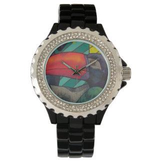 Pintada colorida de Toucan Reloj